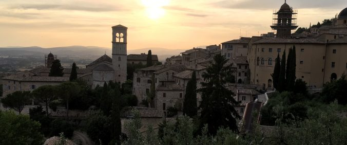 Sunset over Assisi